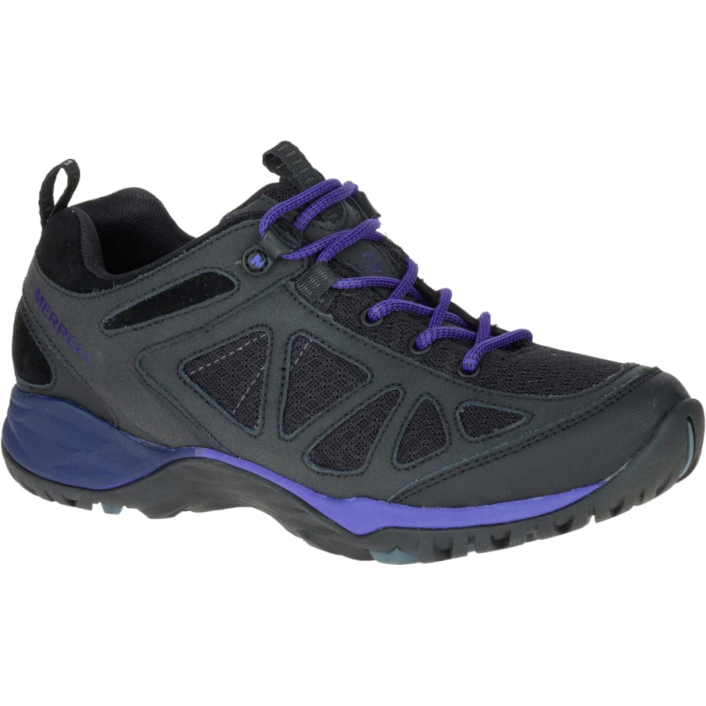 MERRELL Women's Siren Sport Q2 Hiking Shoes, Black/ Liberty - BLACK/LIBERTY