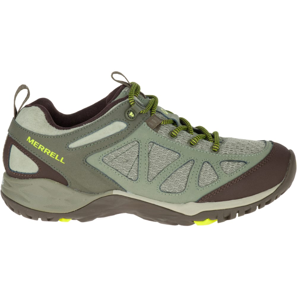 MERRELL Women's Siren Sport Q2 Hiking Shoes, Dusty Olive, Wide - DUSTY OLIVE