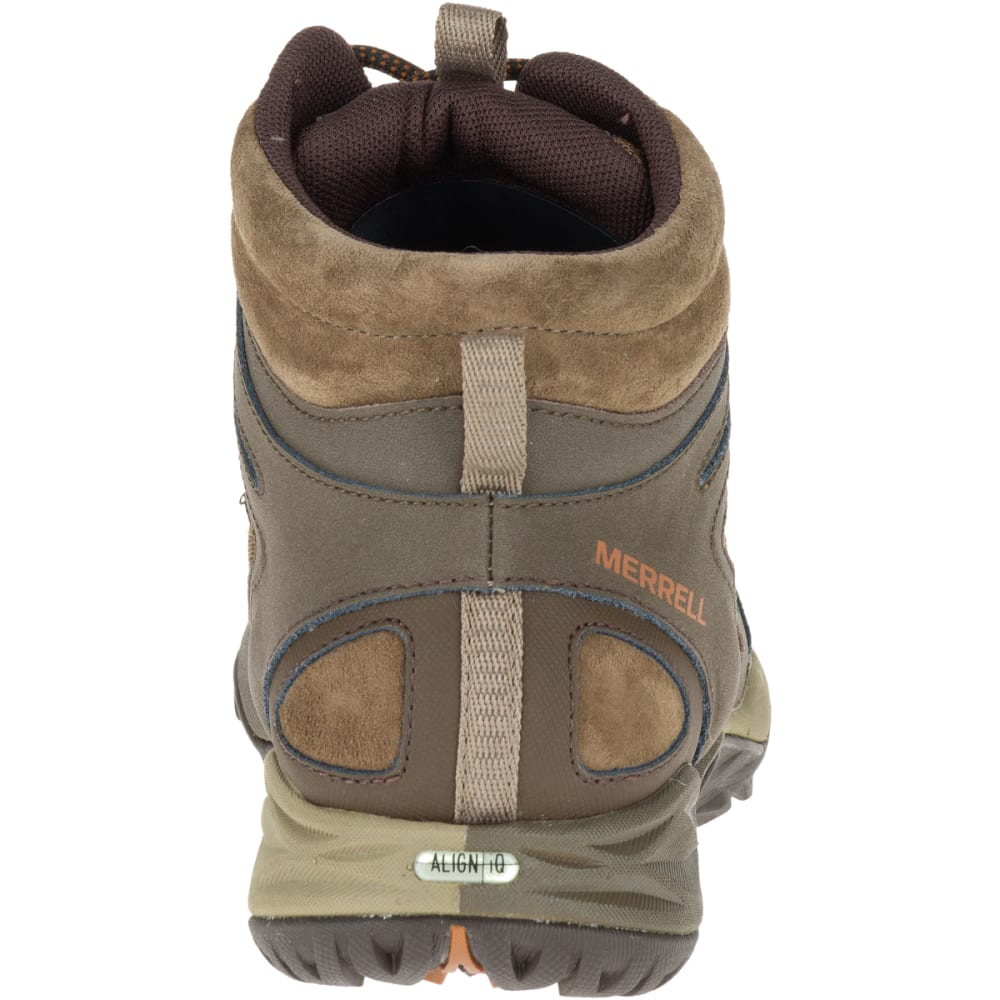 MERRELL Women's Siren Sport Q2 Mid Waterproof Hiking Boots, Slate Black - SLATE BLACK