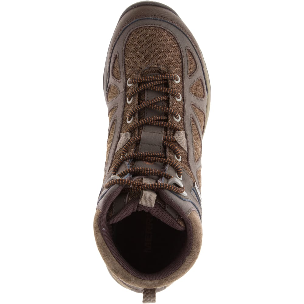 MERRELL Women's Siren Sport Q2 Mid Waterproof Hiking Boots - SLATE BLACK