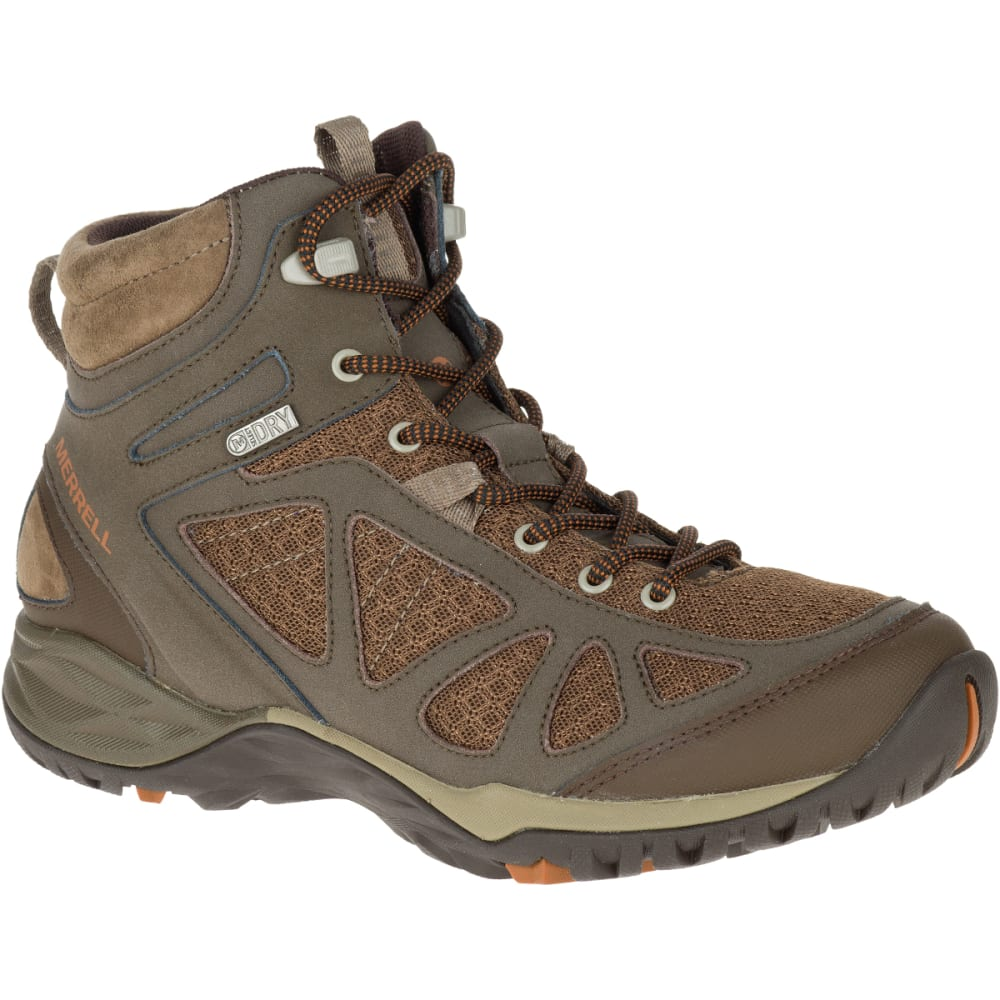 MERRELL Women's Siren Sport Q2 Mid Waterproof Hiking Boots, Slate Black, Wide - SLATE BLACK