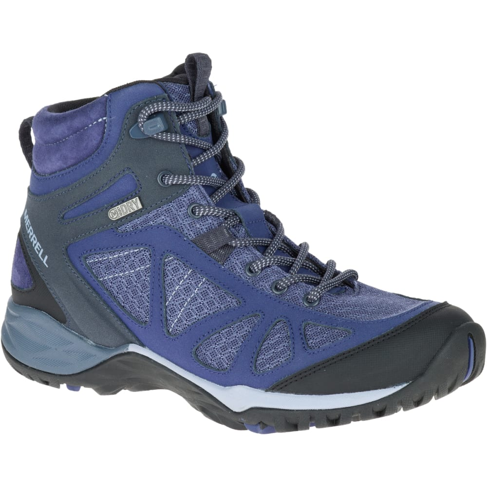 MERRELL Women's Siren Sport Q2 Mid Waterproof Hiking Boots, Crown Blue - CROWN BLUE