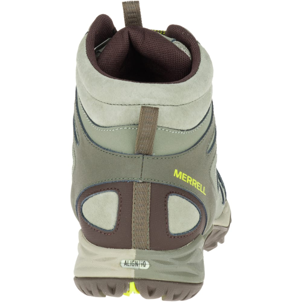 MERRELL Women's Siren Sport Q2 Mid Waterproof Hiking Boots, Dusty Olive, Wide - DUSTY OLIVE