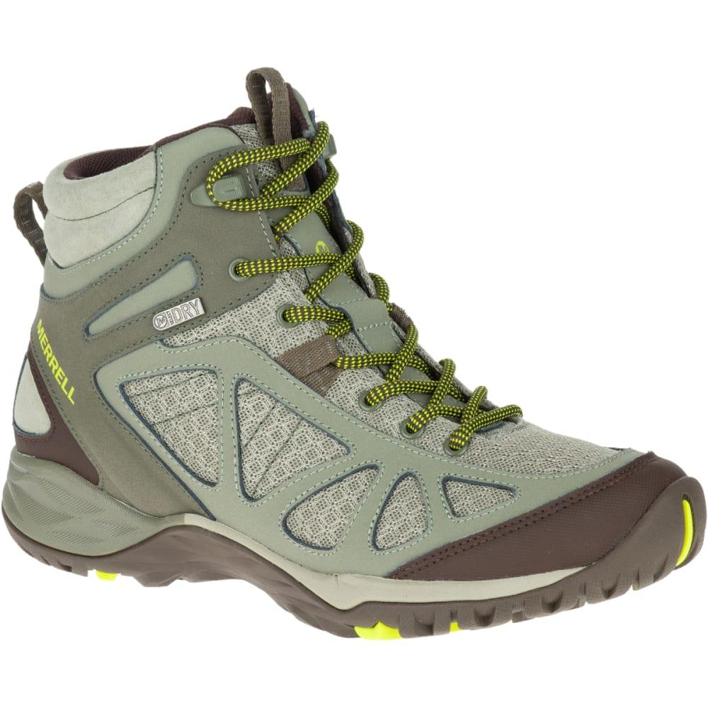c2c2ae05 MERRELL Women's Siren Sport Q2 Mid Waterproof Hiking Boots, Dusty Olive,  Wide