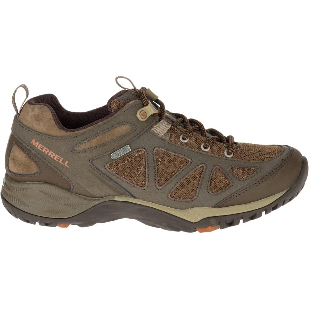 MERRELL Women's Siren Sport Q2 Waterproof Hiking Boots, Slate Black, Wide - SLATE BLACK