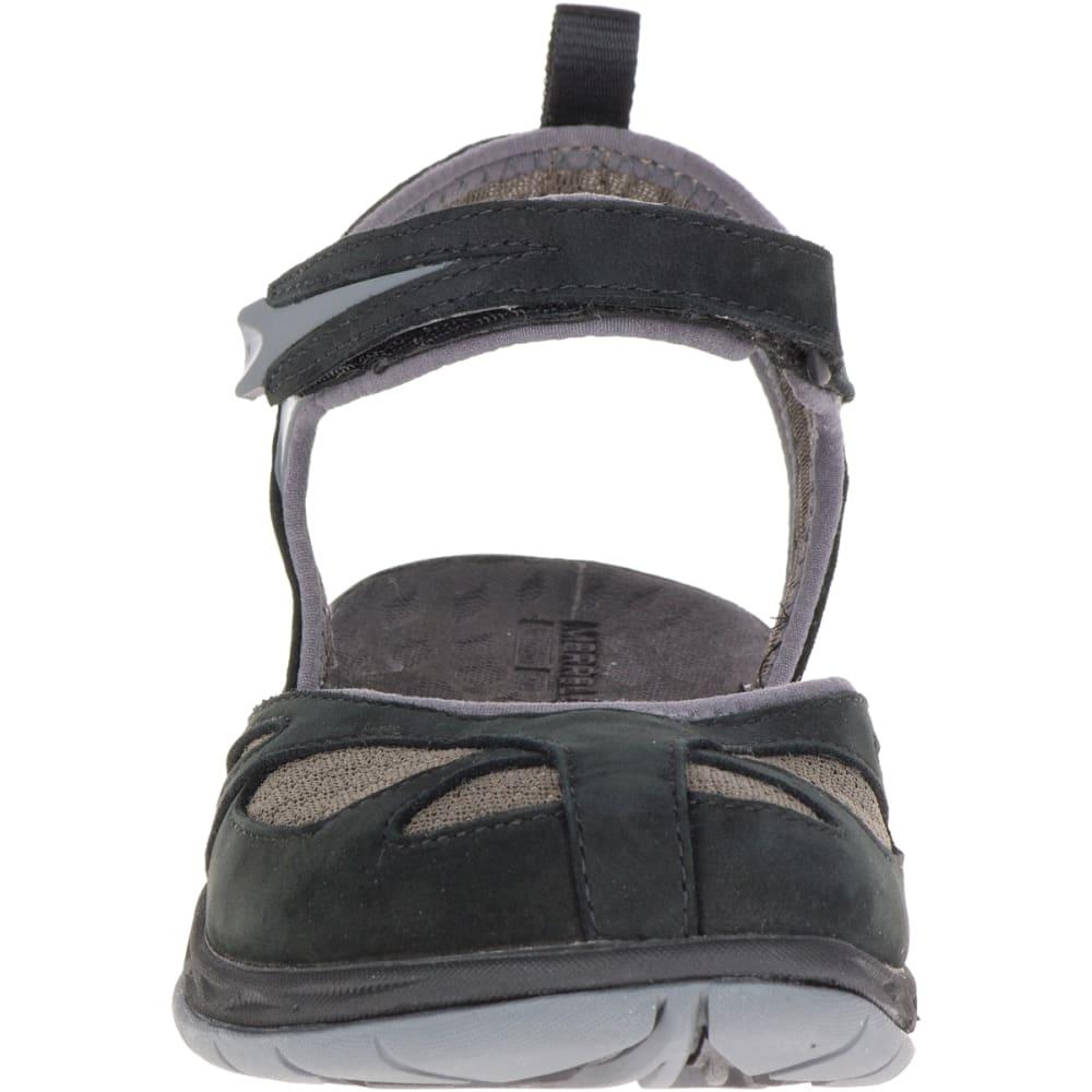 MERRELL Women's Siren Wrap Q2 Sandals, Black - BLACK