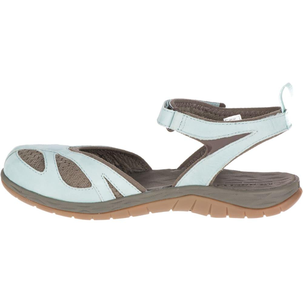 MERRELL Women's Siren Wrap Q2 Sandals, Blue Surf - BLUE SURF