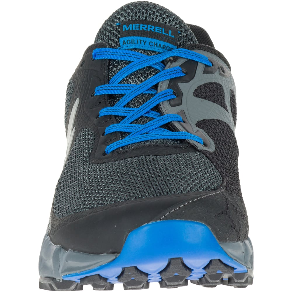 MERRELL Men's Agility Charge Flex Trail Running Shoes, Black - BLACK