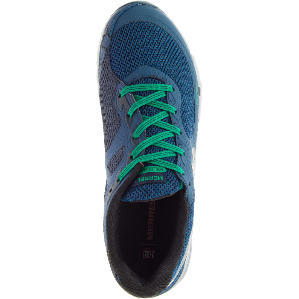 MERRELL Men's Agility Charge Flex Trail Running Shoes, Navy - NAVY