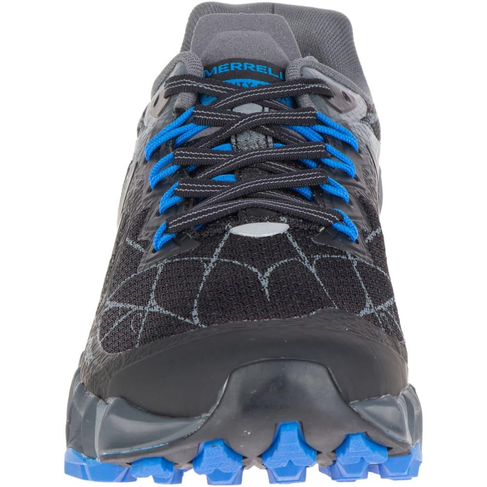 MERRELL Men's Agility Peak Flex Trail Running Shoes, Black - BLACK