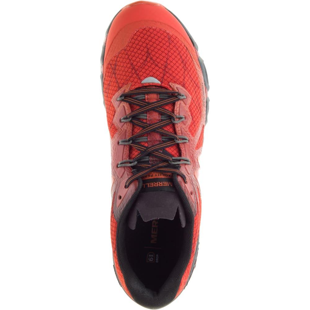 MERRELL Men's Agility Peak Flex Trail Running Shoes, Merrell Orange - MERRELL ORANGE