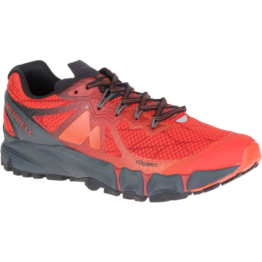 MERRELL Men's Agility Peak Flex Trail Running Shoes, Merrell Orange - MERRELL ORANGE