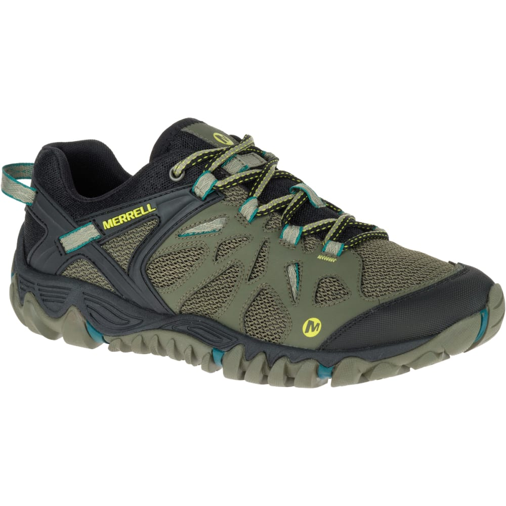 MERRELL Men's All Out Blaze Aero Sport Hiking Shoes, Dusty Olive - DUSTY OLIVE