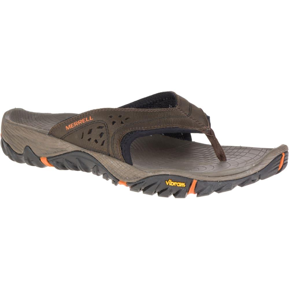 MERRELL Men's All Out Blaze Flip Sandals, Slate Black - SLATE BLACK
