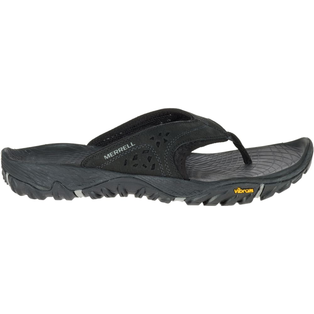 MERRELL Men's All Out Blaze Flip Sandals, Black - BLACK