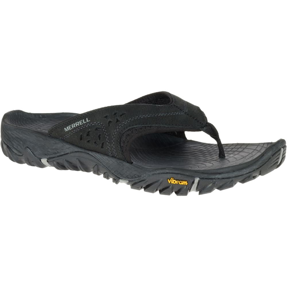 MERRELL Men's All Out Blaze Flip Sandals, Black - BLACK