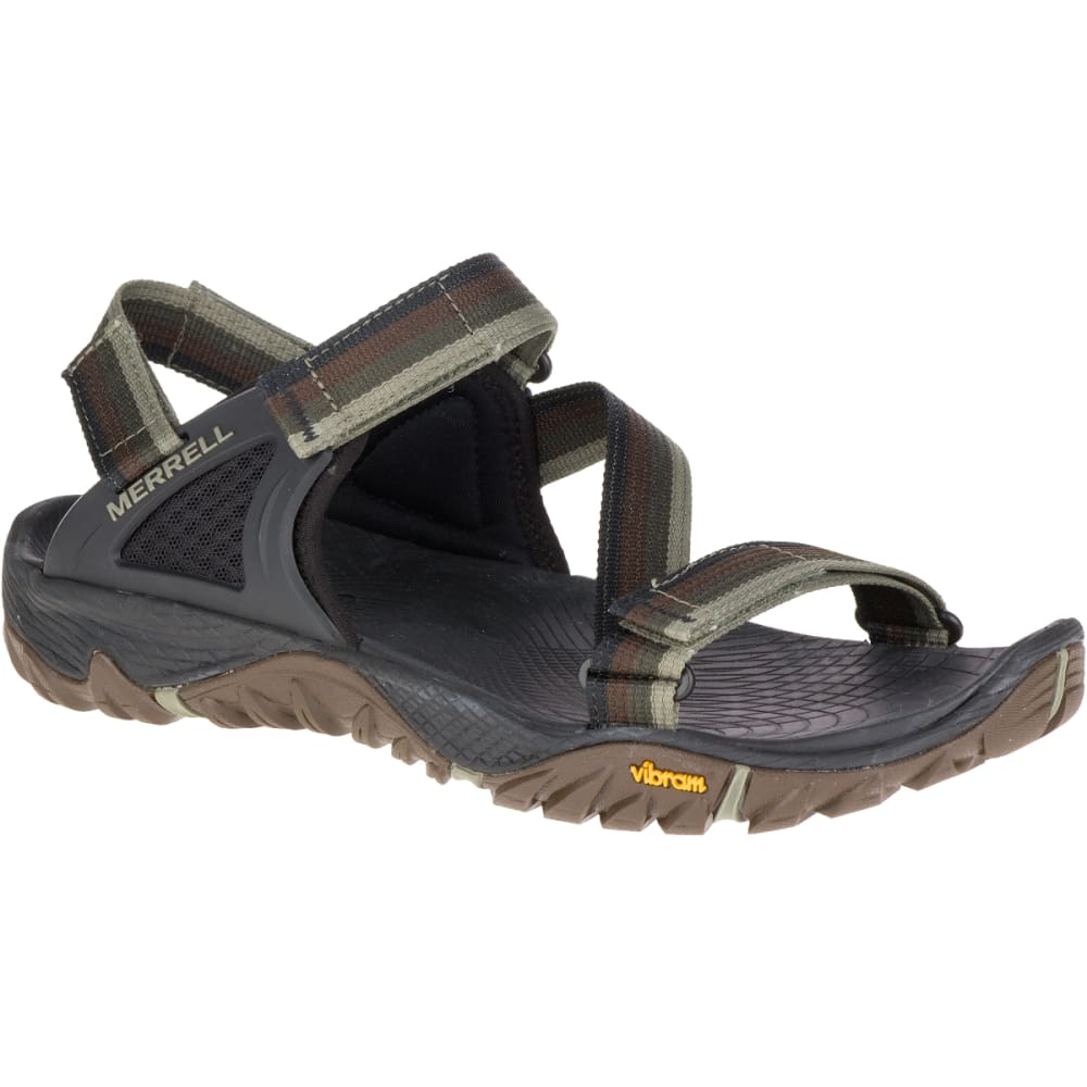 MERRELL Men's All Out Blaze Web Sandals, Dusty Olive - DUSTY OLIVE