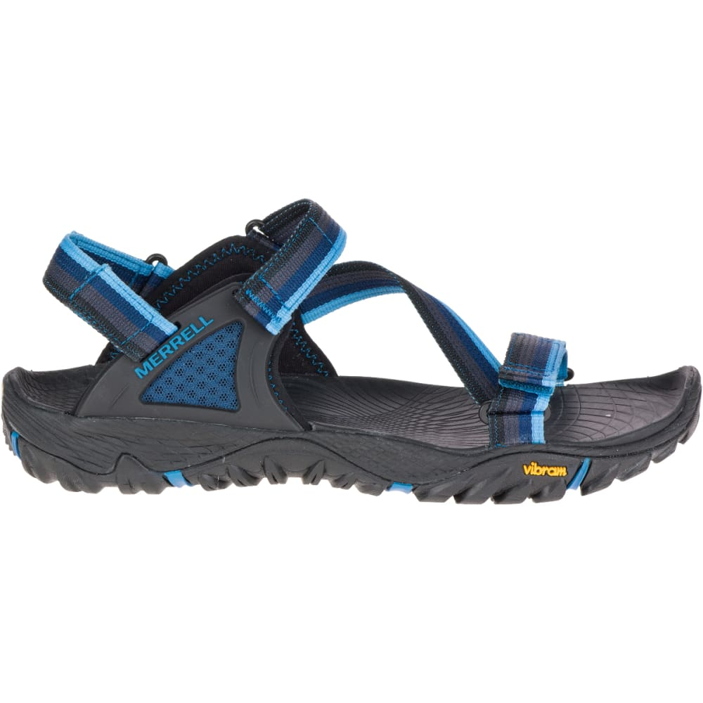 MERRELL Men's All Out Blaze Web Sandals, Ebony - EBONY
