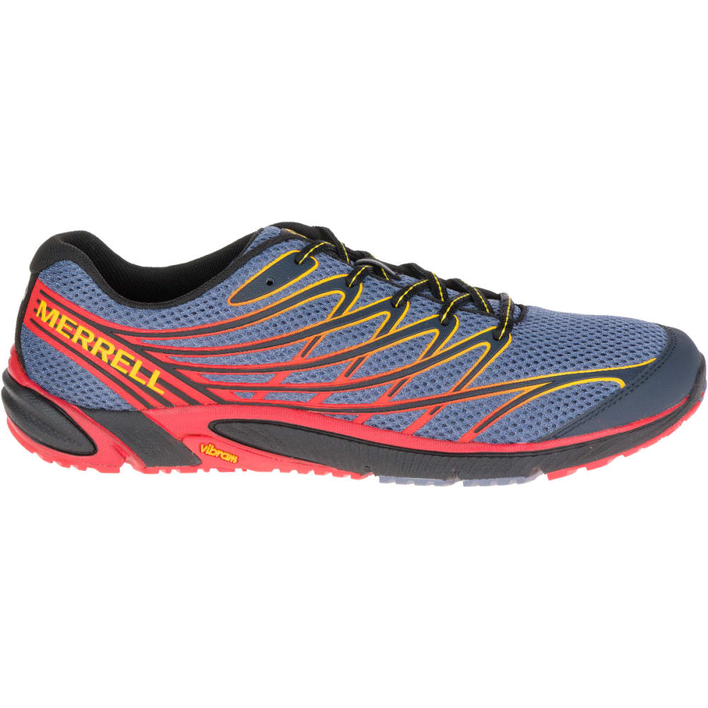 MERRELL Men's Bare Access 4 Running Shoes, Folkstone Grey - FOLKSTONE GREY