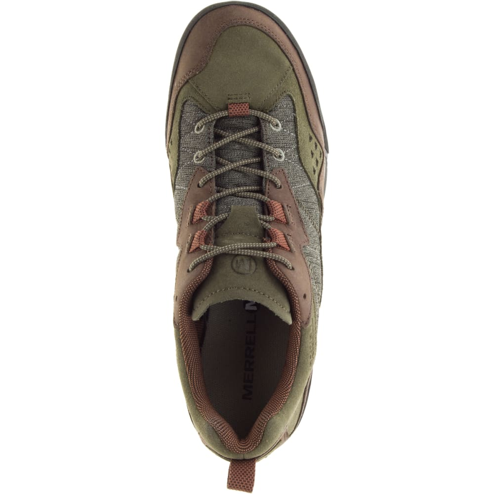MERRELL Men's Burnt Rock Casual Shoes, Dusty Olive - DUSTY OLIVE