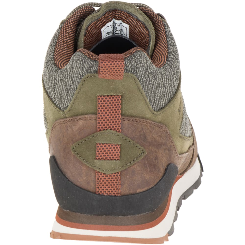 MERRELL Men's Burnt Rock Mid Casual Shoes, Dusty Olive - DUSTY OLIVE