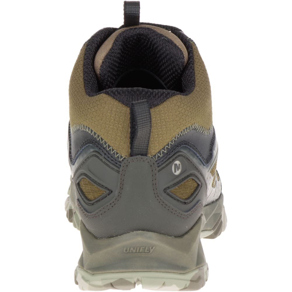 MERRELL Men's Capra Bolt Mid Waterproof Hiking Boots, Dark Olive - DARK OLIVE