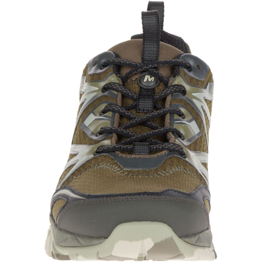 MERRELL Men's Capra Bolt Waterproof Hiking Boots, Dark Olive - DARK OLIVE