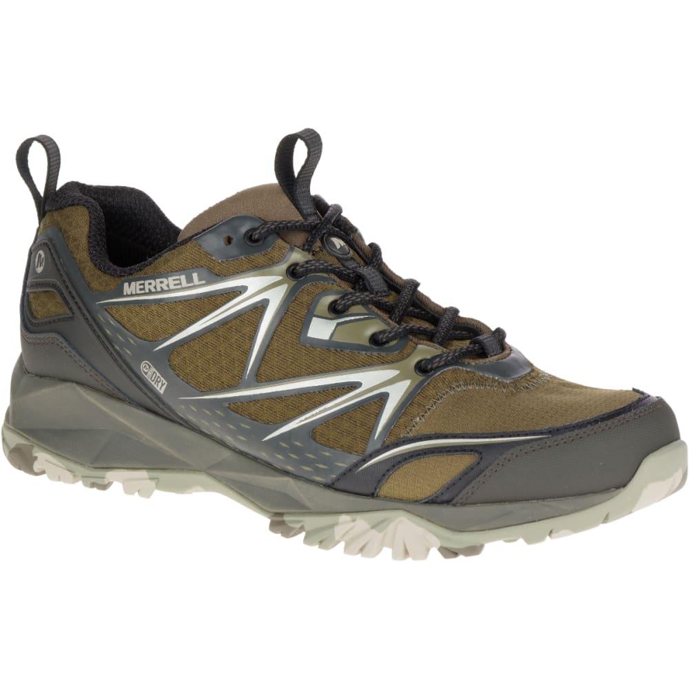 MERRELL Men's Capra Bolt Waterproof Hiking Boots, Dark Olive - DARK OLIVE