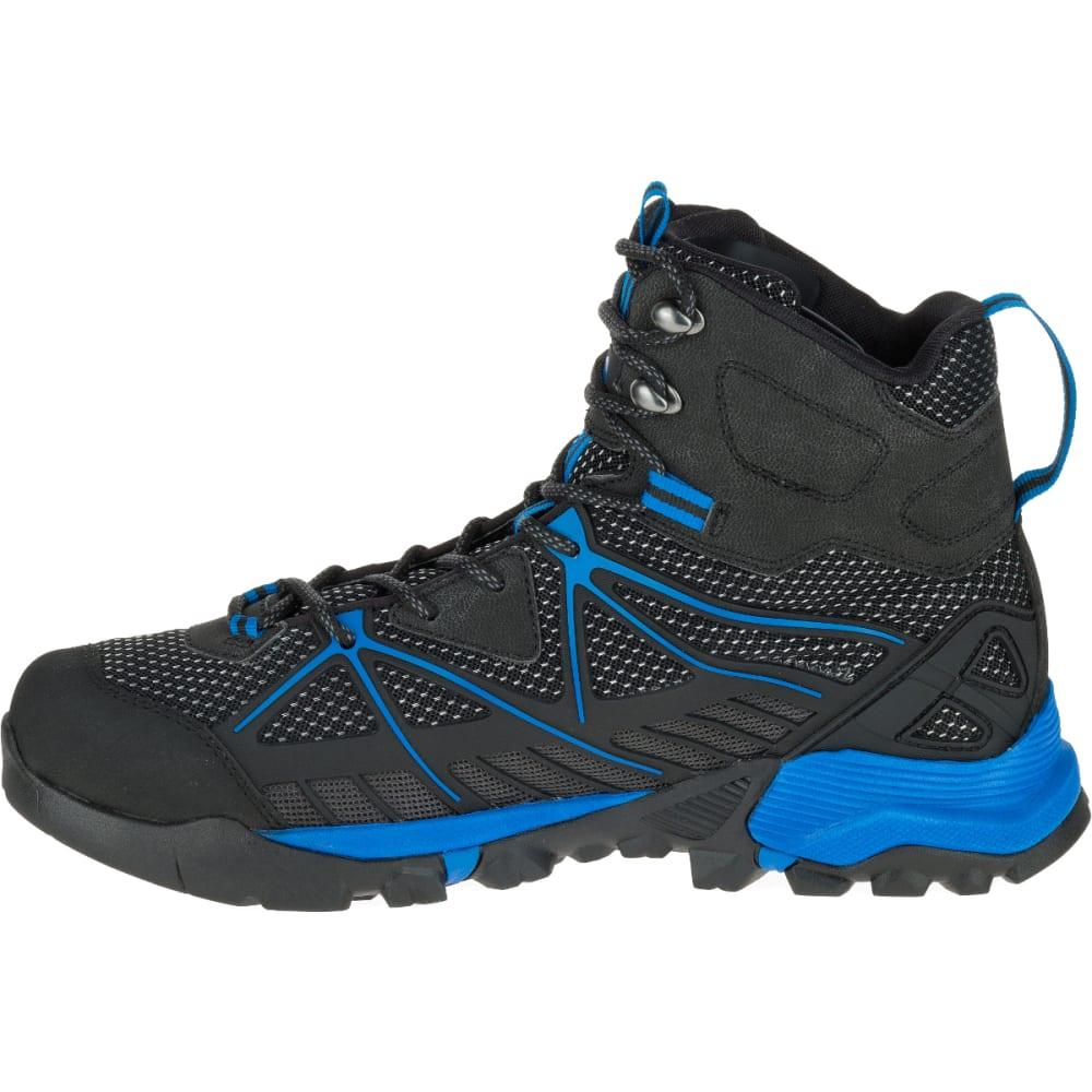 gerenommeerde site outlet winkel nieuwe producten MERRELL Men's Capra Venture Mid GORE-TEX SURROUND Waterproof Hiking Boots,  Black