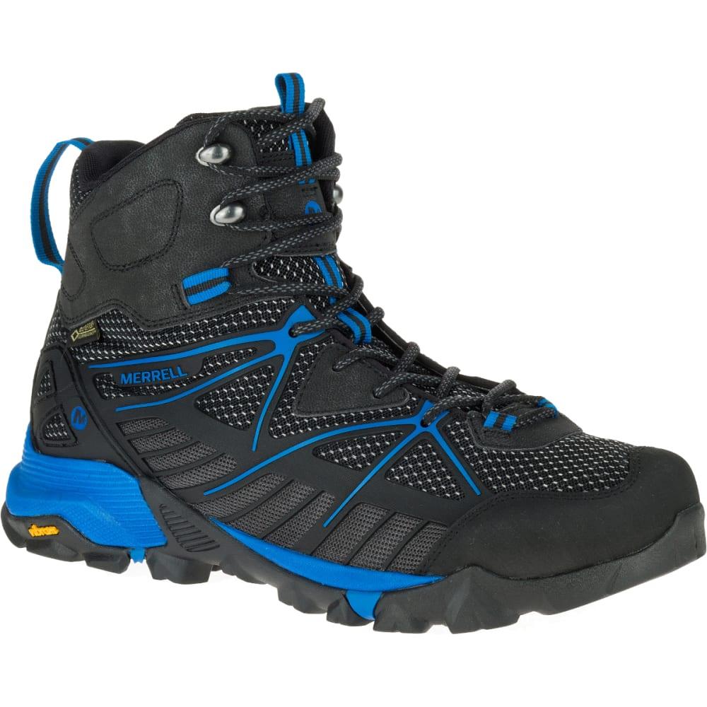 MERRELL Men's Capra Venture Mid GORE-TEX SURROUND Waterproof Hiking Boots, Black - BLACK