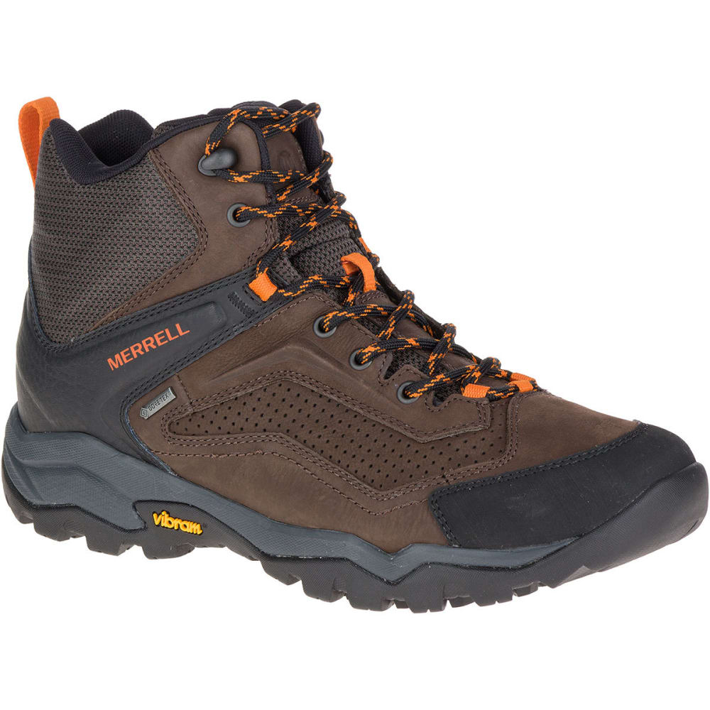 MERRELL Men's Everbound Mid GORE- TEX Hiking Boots, Dark Earth - DARK EARTH
