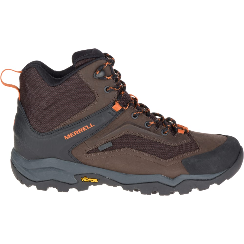 MERRELL Men's Everbound Ventilator Mid Waterproof Hiking Boots, Dark Earth - DARK EARTH