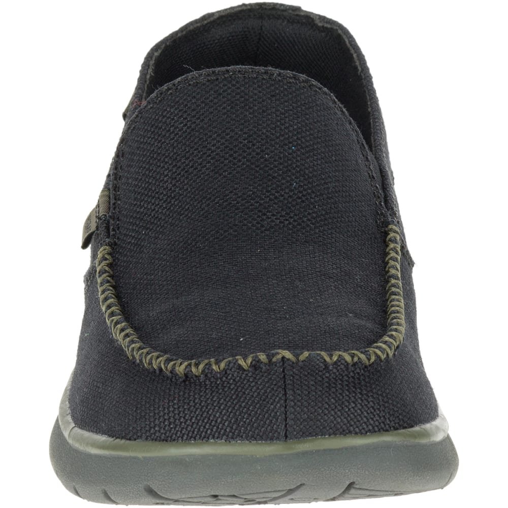 MERRELL Men's Laze Hemp Moc Casual Shoes, Black - BLACK