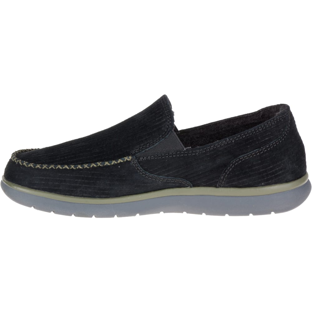 MERRELL Men's Laze Moc Casual Shoes, Black - BLACK