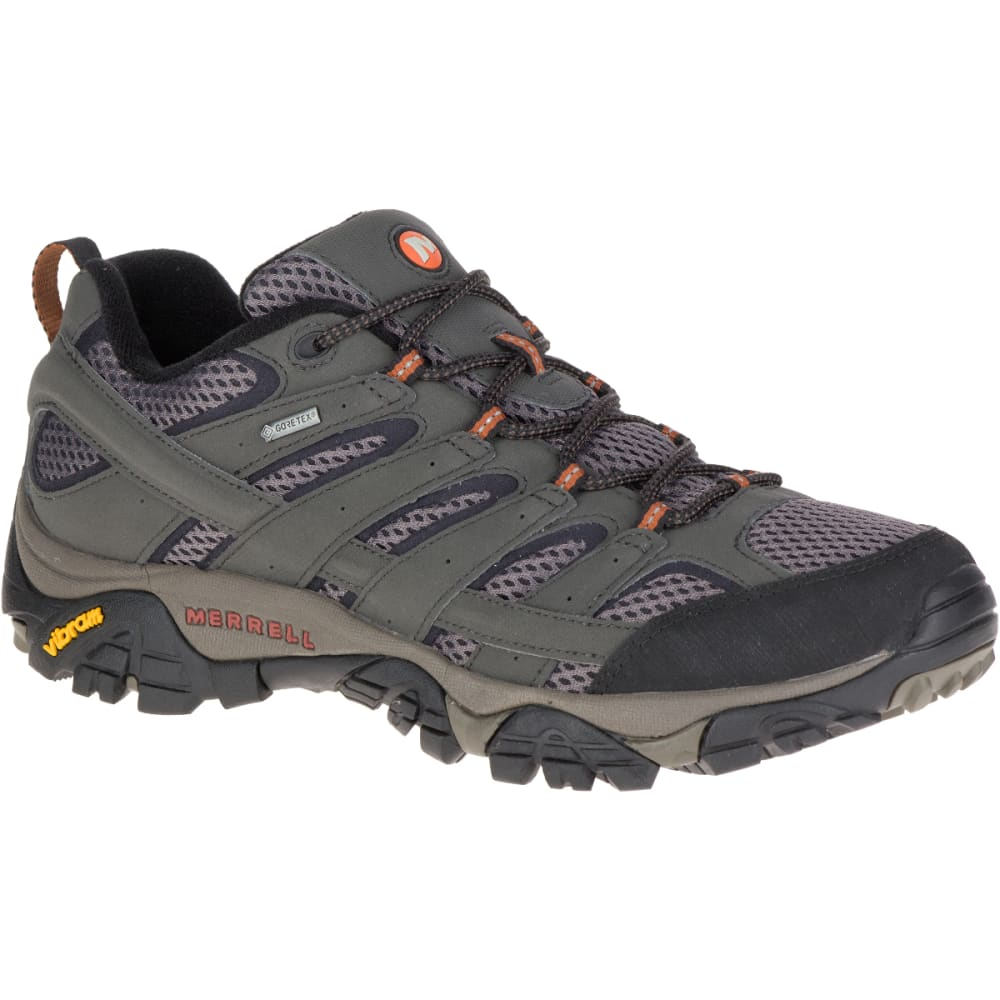 MERRELL Men's Moab 2 GORE-TEX Waterproof Hiking Shoes, Beluga, Wide - BELUGA
