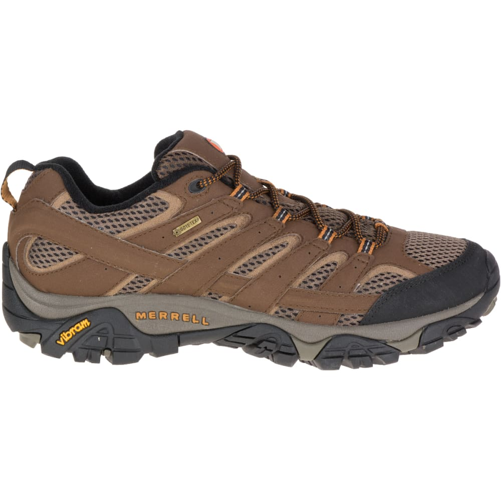 MERRELL Men's Moab 2 GORE- TEX Hiking Shoes, Earth, Wide - EARTH