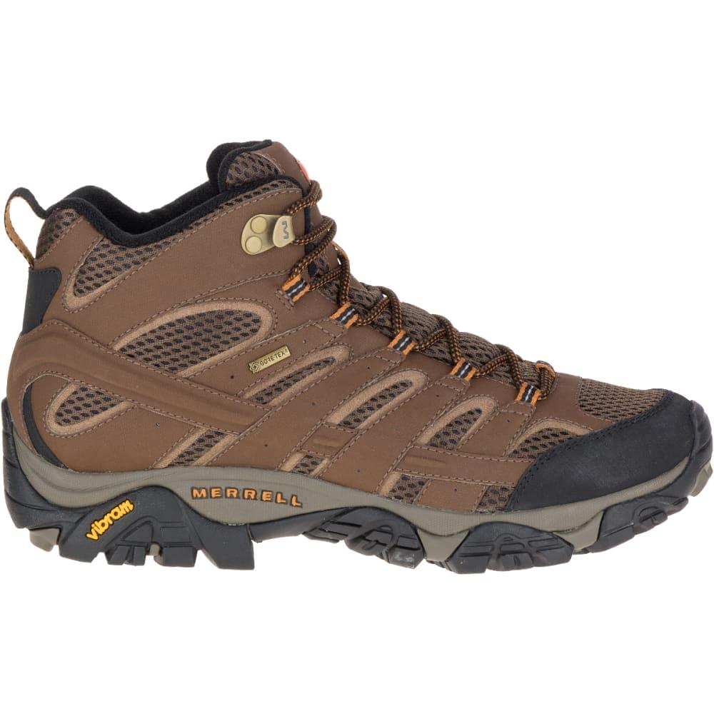 MERRELL Men's Moab 2 Mid GORE- TEX Hiking Boots, Earth - EARTH