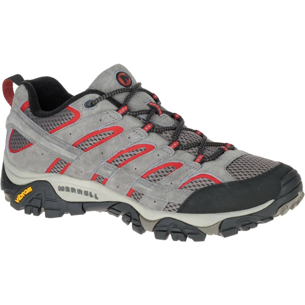 MERRELL Men's Moab 2 Ventilator Hiking Shoes, Charcoal Grey, Wide - CHARCOAL GREY