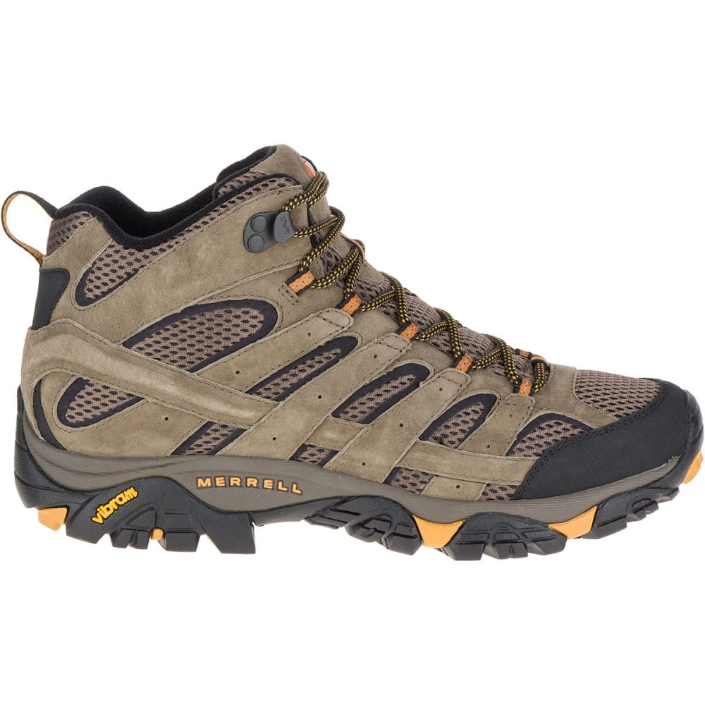 MERRELL Men's Moab 2 Ventilator Mid Hiking Boots, Walnut - WALNUT