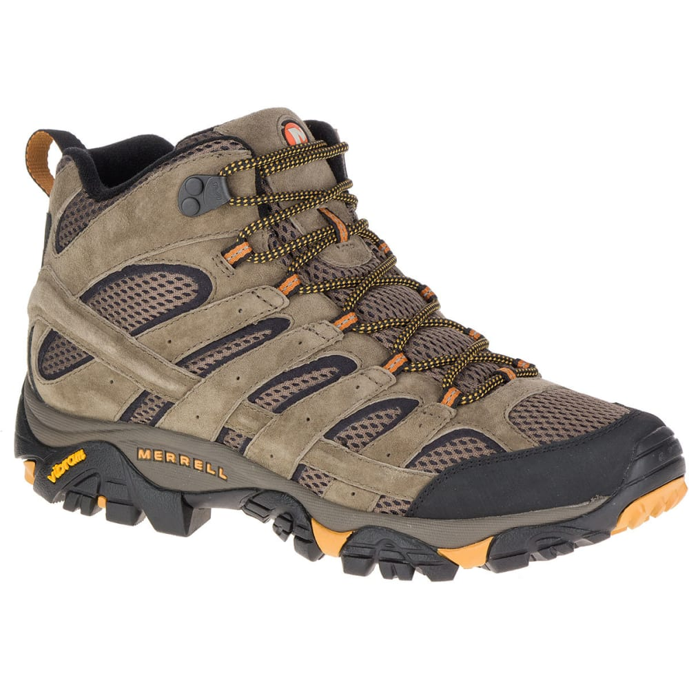 Merrell Men's Moab 2 Ventilator Mid Hiking Boots, Walnut, Wide - Brown