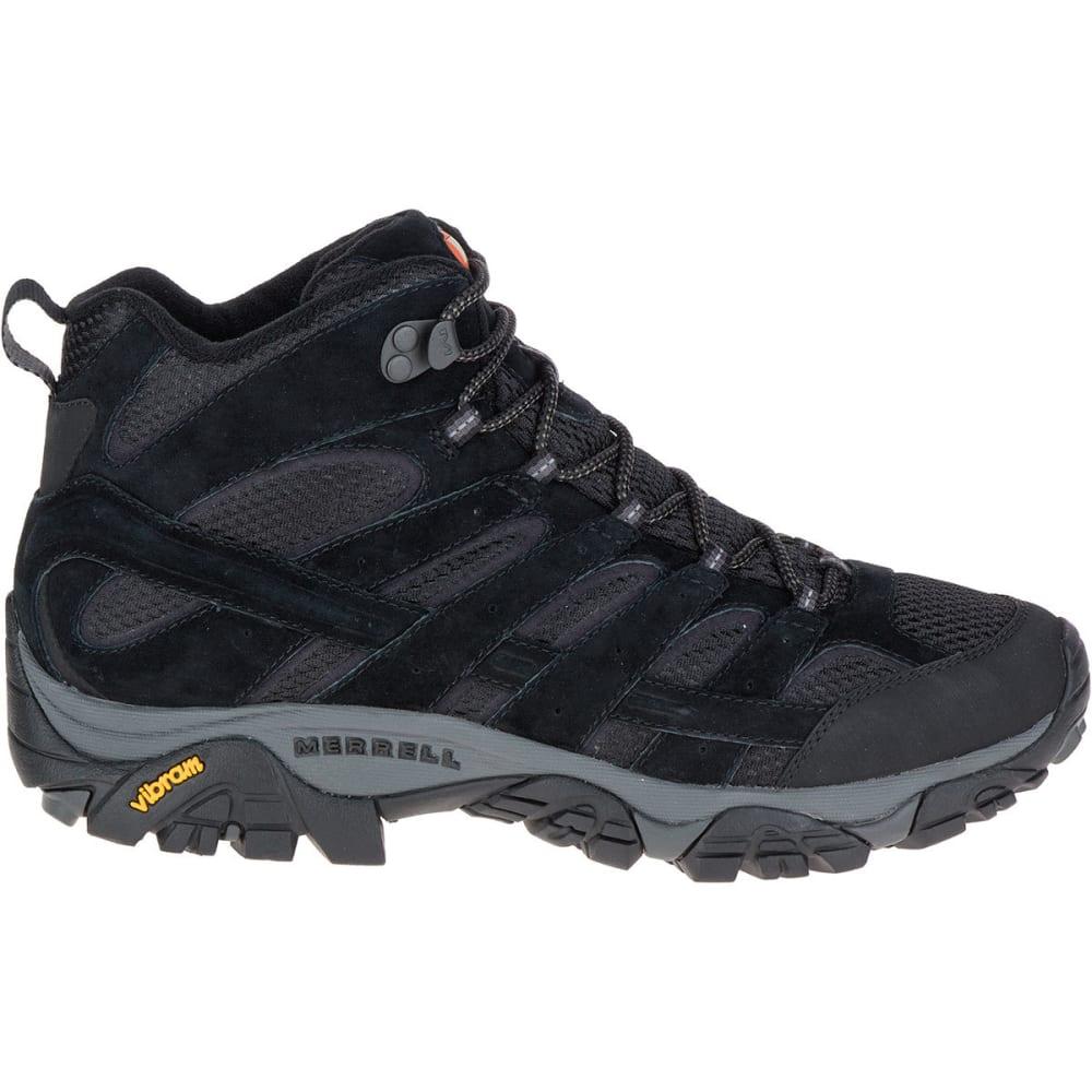 MERRELL Men's Moab 2 Ventilator Mid Hiking Boots, Black Night, Wide - BLACK NIGHT