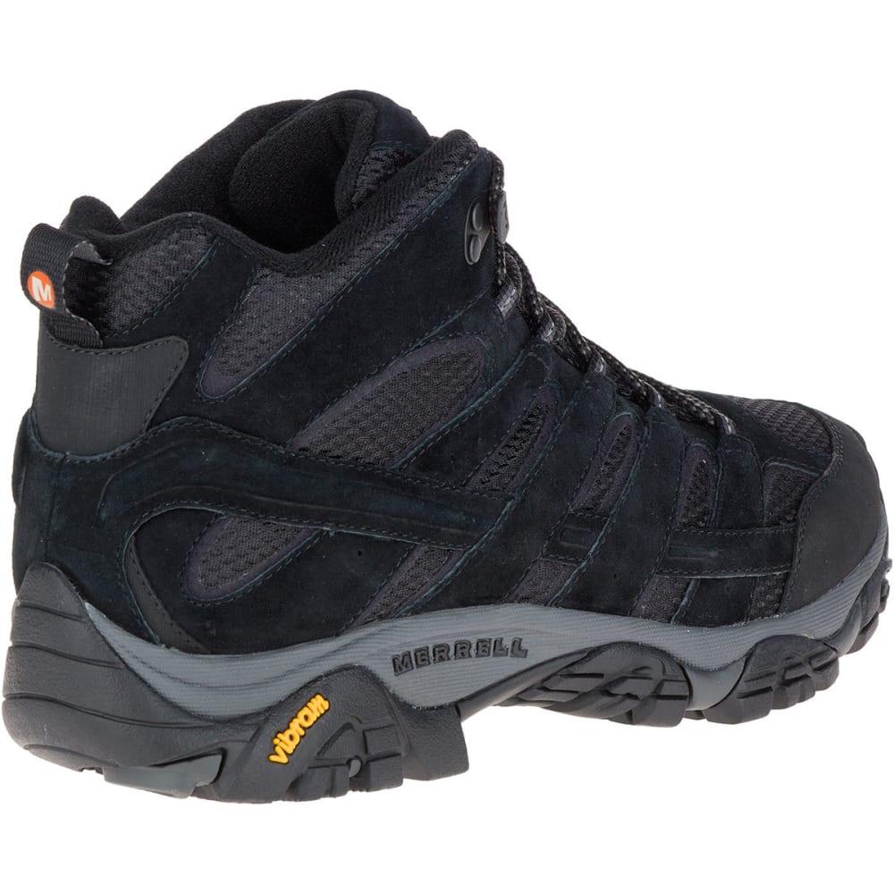576415e25e MERRELL Men's Moab 2 Ventilator Mid Hiking Boots, Black Night, Wide
