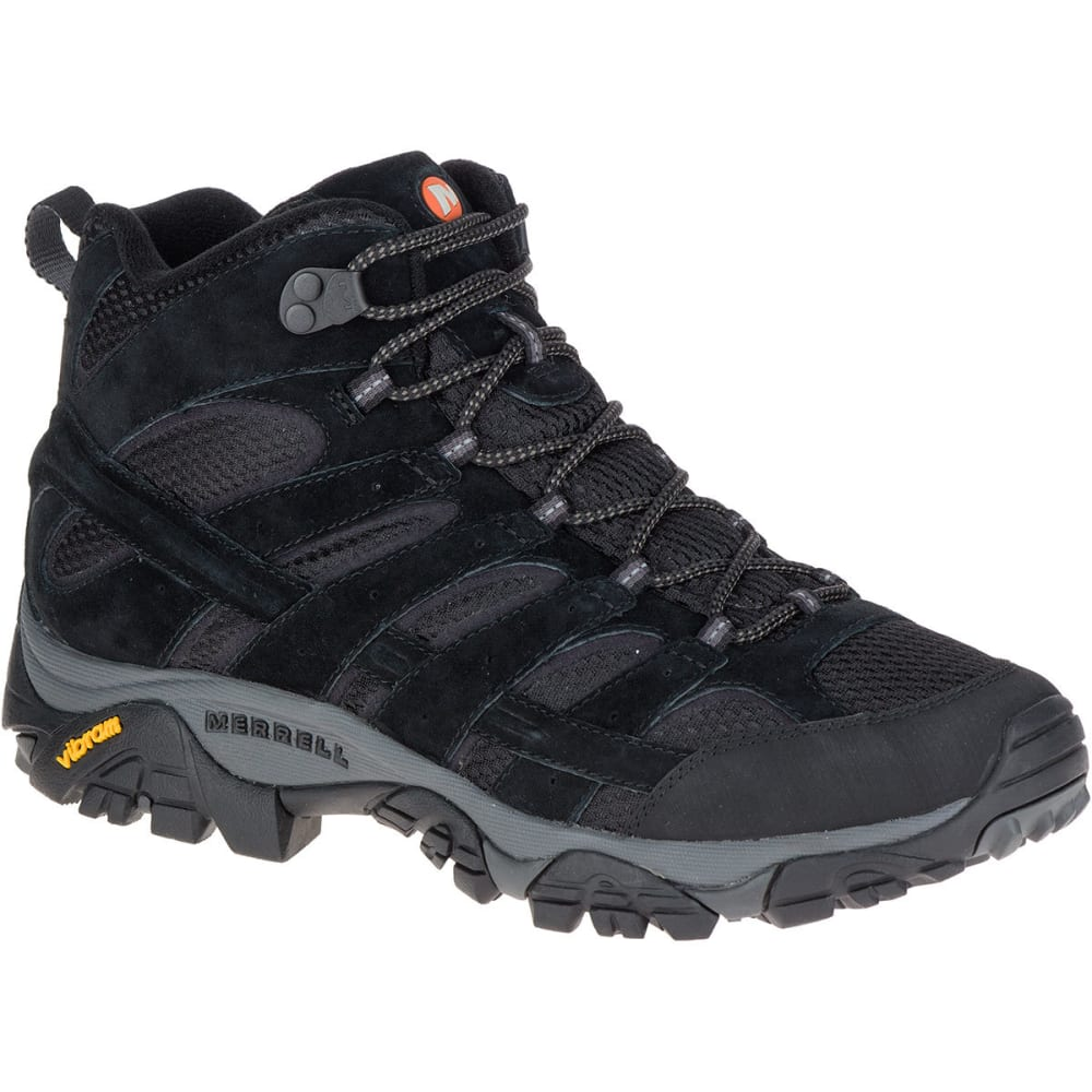 MERRELL Men's Moab 2 Ventilator Mid Hiking Boots, Black Night, Wide - BLACK NIGHT