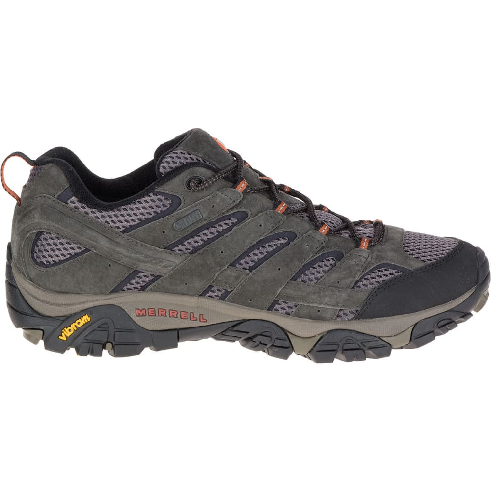 MERRELL Men's Moab 2 Waterproof Hiking Shoes, Beluga - BELUGA