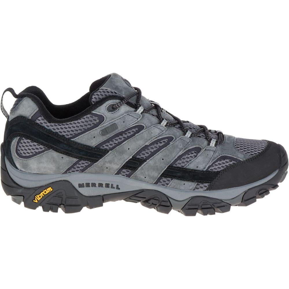 MERRELL Men's Moab 2 Waterproof Hiking Shoes, Granite - GRANITE