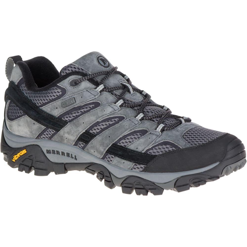 MERRELL Men's Moab 2 Waterproof Hiking Shoes, Granite 11