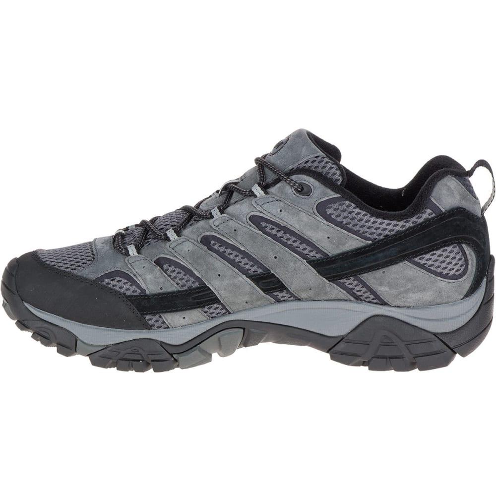 MERRELL Men's Moab 2 Waterproof Hiking Shoes, Granite, Wide - GRANITE