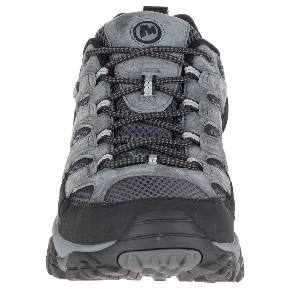 MERRELL Men's Moab 2 Waterproof Hiking Shoes, Granite, Wide - GRANITE