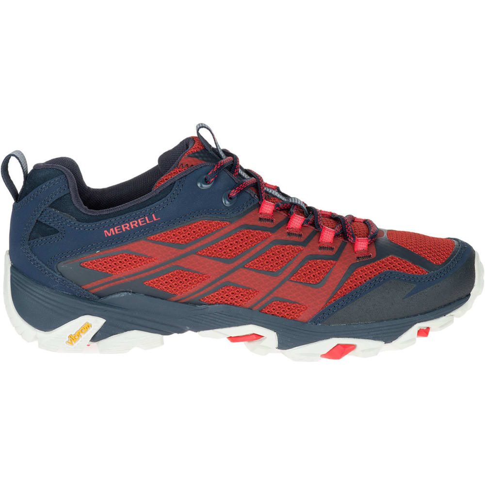 MERRELL Men's Moab FST Hiking Shoes, Navy/Dark Red - NAVY/DARK RED