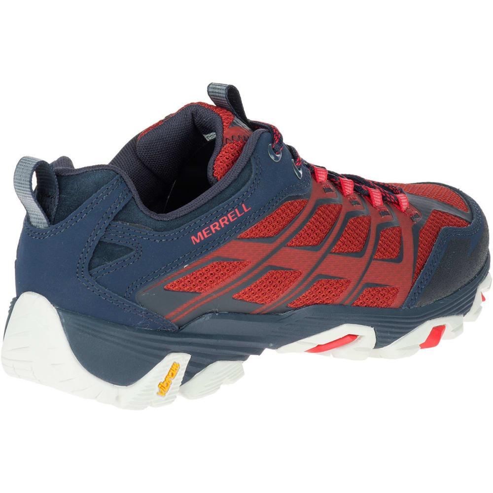 MERRELL Men's Moab FST Hiking Shoes, Navy/Dark Red - NAVY/DARK RED